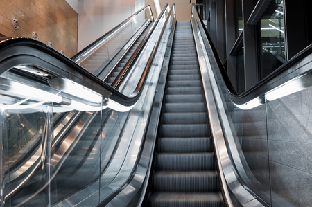 Escalator inside a shopping mall