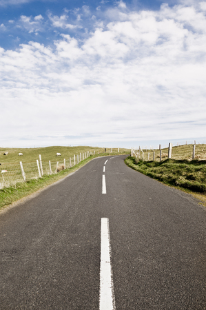 Countryside road in Northern Ireland 免版税图像