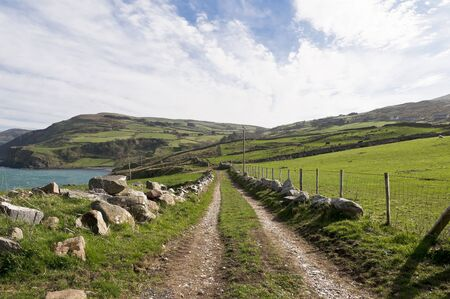 Countryside road in Torr Head, Northern Irealnd