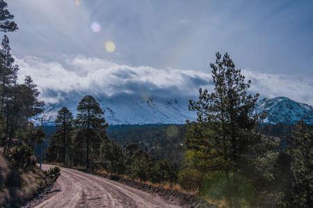nevado: View of Nevado de Toluca Stock Photo
