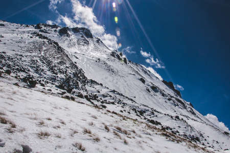 nevado: Nevado de Toluca landscape Stock Photo