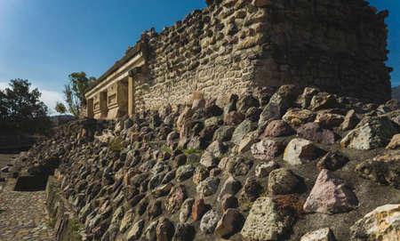 Detail of the ruins of prehispanic Mitla in Oaxaca Mexico