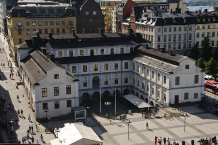 katarina: Aerial view of Stockholm city museum as seen from Katarina Elevator (Katarinahissen), Stockholm, Sweden Editorial