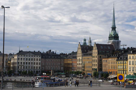 View of Stockholm old town (Gamla stan), Sweden Editorial