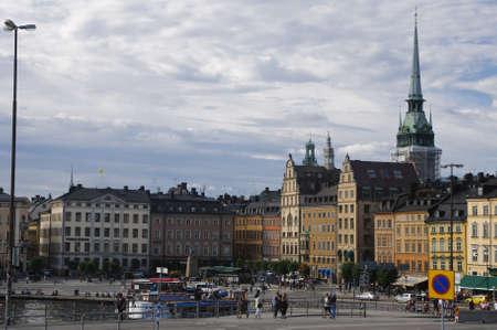 Vue de la vieille ville de Stockholm (Gamla Stan), la Su�de