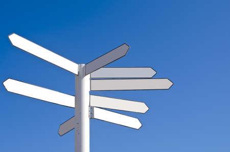 Blank direction signpost photo