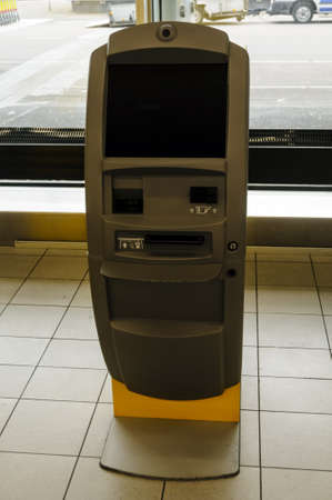 self service: Kiosk for self service check in at the airport Stock Photo