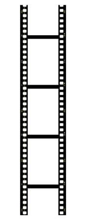 Pellicule vertical sur fond blanc
