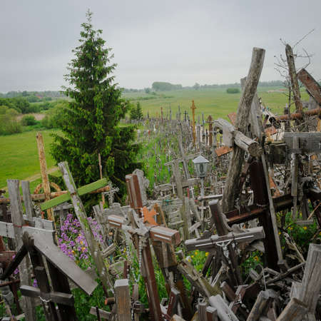 oppression: The hill of the Crosses in Lithuania one of the most important pilgrimage sights of the region and a national monument commemorating Soviet oppression.