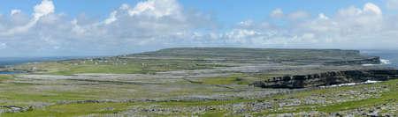 aran: Panorama of Inishmore, the biggest of Aran Island, Galway Bay, Ireland, Europe Stock Photo