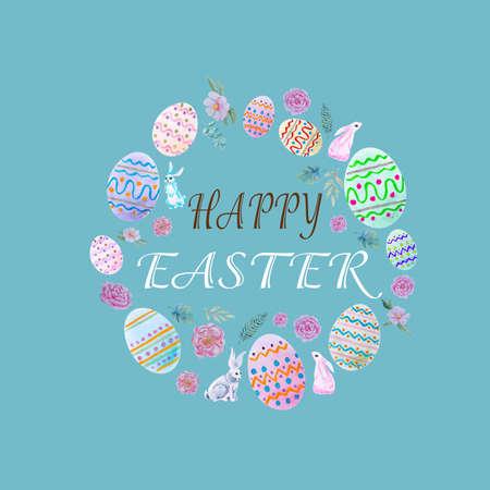 Happy easter egg illustration on background Standard-Bild