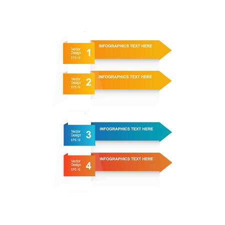 minimal: minimal arrow info elements. Origami style. Vector web illustration.