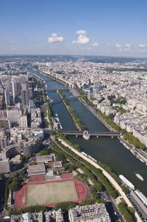 The city of Paris taken from the Eiffel Tower, France. Stock Photo - 12291448