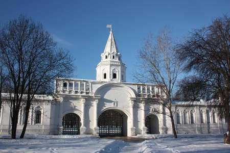 the back gate: Russia, Moscow. The  manor Izmailovo.  The front gate.