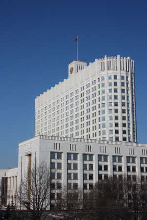 russian federation: Russia, Moscow. House Government of the Russian Federation - the White House. Editorial