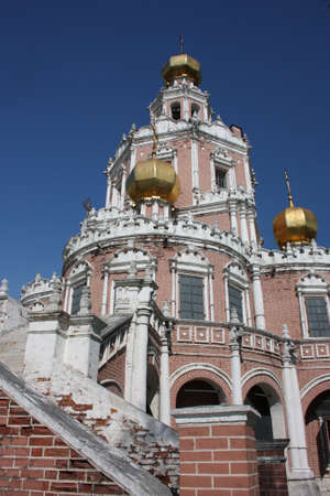 Russia, Moscow  Church Holy Virgin Protection at Fili Stock Photo - 13590830