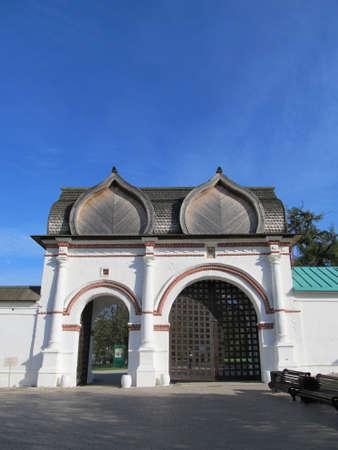 spassky: Russia, Moscow   Manor Kolomenskoye   Spassky  Rear  gate  17th century