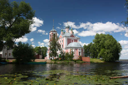 Russia, Yaroslavl region, Pereslavl  Forty Martyrs Church in the mouth of the river Trubezh   photo