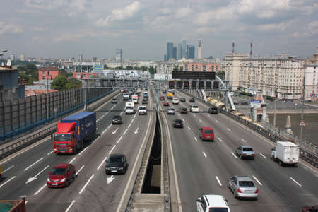Russia, Moscow  Third Ring Road in Andreevsky Bridge
