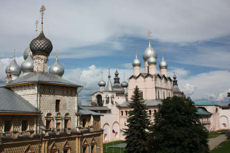 Russia, Rostov Veliky  Rostov Kremlin  Church of the Resurrection of Our Lord and the Church of the Protectress   photo