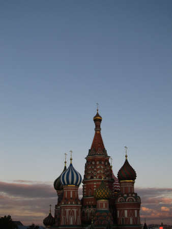 st basil s cathedral: Pokrovsky Cathedral  St  Basil s Cathedral  at sunset  Russia, Moscow