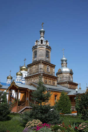 Russia, Chuvash Republic, Tsivilsk. The Virgin of Tikhvin Monastery. Temple of the Holy Martyr Harlampy.  photo