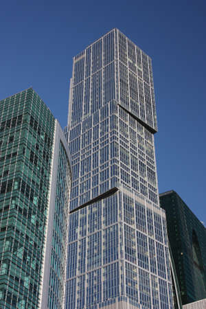 Russia, Moscow  Modern high-rise building of glass and concrete   Stock Photo - 15756206