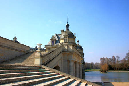 chantilly: Small Chantilly castle on the outskirts of Paris  France