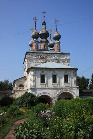 theologian: The Gate Church of St  John the Theologian  17th century  in the Monastery of Archangel Michael  Russia, Vladimir region, Yuriev-Polsky  Golden Ring of Russia