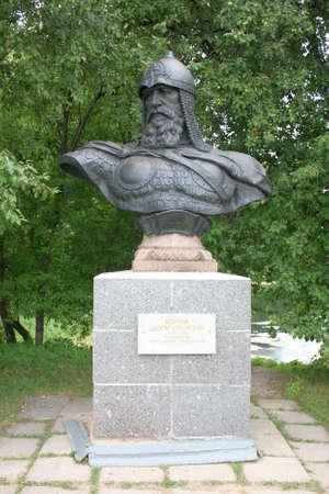 founder: Russia, Yaroslavl region, Pereslavl  The monument to the founder of the city - to Yury Dolgoruky in Goritskiy monastery