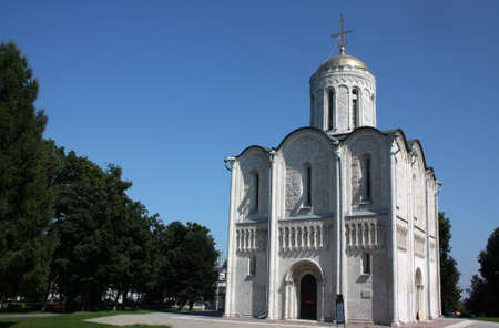 Demetrius Cathedral  1193 - 1197 years  in Vladimir, Russia  Golden Ring of Russia photo