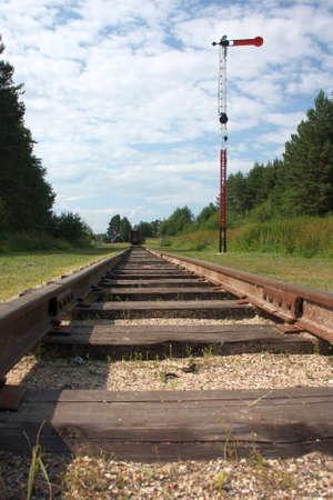 narrow gauge railway: Narrow Gauge Railroad Stock Photo