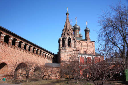 Krutitsky chambers ensemble  Arched passages and Assumption Cathedral  Russia, Moscow