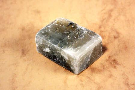 spar: A mineral Iceland spar on a light background