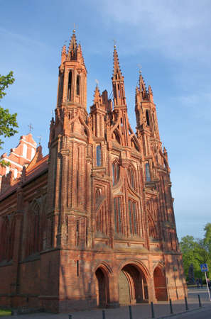 anne: Catholic church of St  Anne in Vilnius, Lithuania