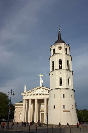 vilnius: Bell Tower and the Cathedral of St. Stanislaus. Lithuania, Vilnius