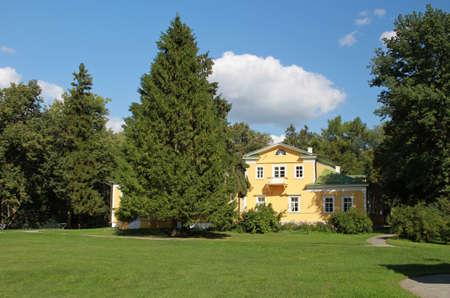 """Dwór. Rezerwa Muzeum Puszkina  """"Boldino """". Rosja, Niżny Nowogród regionu, Bolshoe Boldino Publikacyjne"""