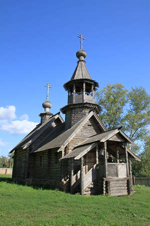 michael the archangel: Chapel of the Archangel Michael. Reserve Museum Pushkin \Boldino\. Russia, Nizhny Novgorod region, Boldino