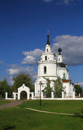 boldino: Church of the Assumption. Russia, Nizhny Novgorod region, Boldino Stock Photo