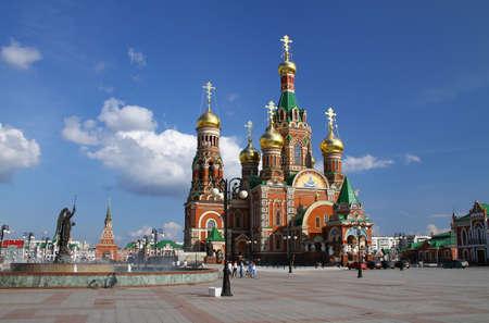 annunciation:  Annunciation in Yoshkar-Ola. Russia, Republic of Mari El Editorial