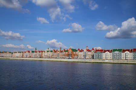 bruges: Embankment Bruges in Yoshkar-Ola. Russia, Republic of Mari El Stock Photo