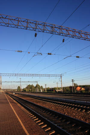 railroad station: Railroad station. Russia, Chuvash Republic, Shumerlya Stock Photo
