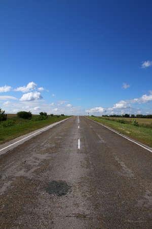 the old road: Old road. Russia, Chuvash Republic
