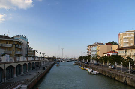 mare: Canal in Gabicce Mare, Italy Stock Photo
