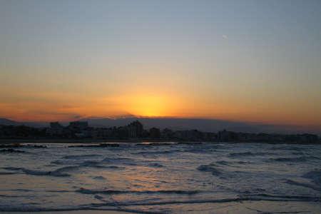 yegua: Puesta de sol en Gabicce Mare, Italia