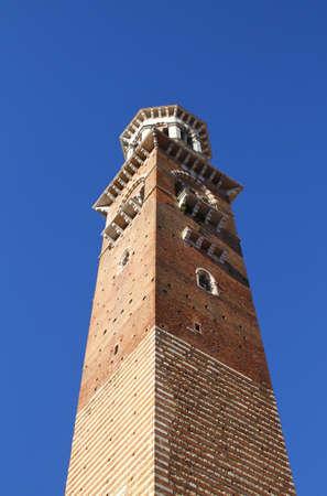 dei: Lamberty Tower Torre dei Lamberti. Verona, Italy Stock Photo