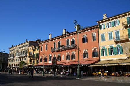 piazza: The Square Bra Piazza Bra in Verona, Italy