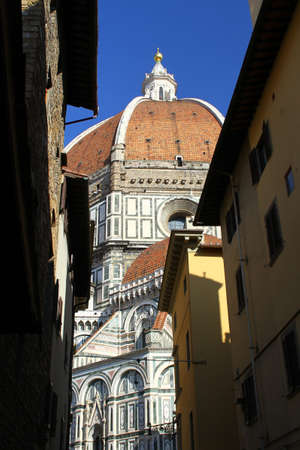 fiore: The dome of the Cathedral of Santa Maria del Fiore in Florence, Italy