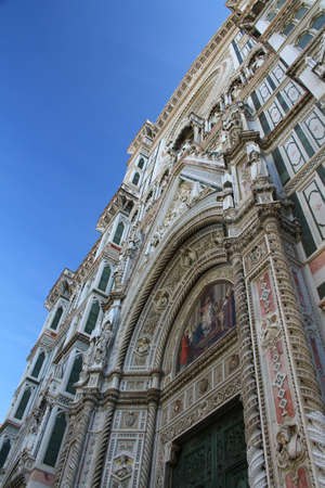 exterior architectural details: Cathedral of Santa Maria del Fiore in Florence, Italy