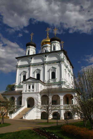 assumption: Assumption Cathedral in Joseph-Volokolamsk Monastery. Russia, Moscow region, Teryaevo